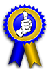Blue Ribbon Thumbs Up Award